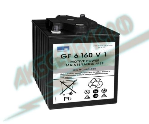 Акбсервис.РФ | GF 06 160 V1 - тяговый моноблочный аккумулятор для поломоечных машин, гольфкаров и другой электротехники, марки Sonnenschein.