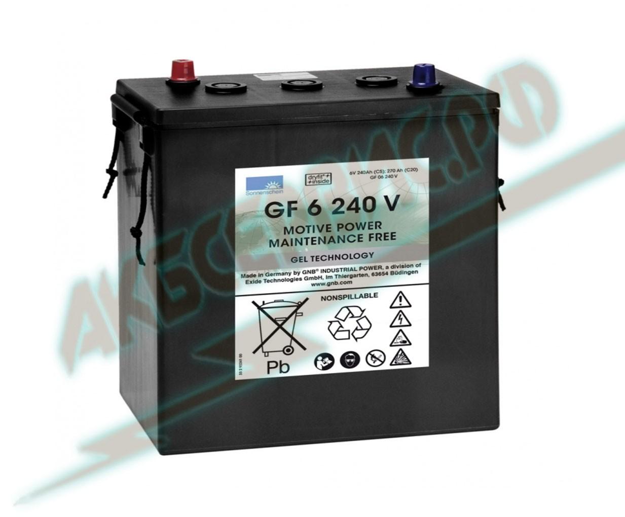 Акбсервис.РФ | GF 06 240V - тяговый моноблочный аккумулятор марки Sonnenschein.