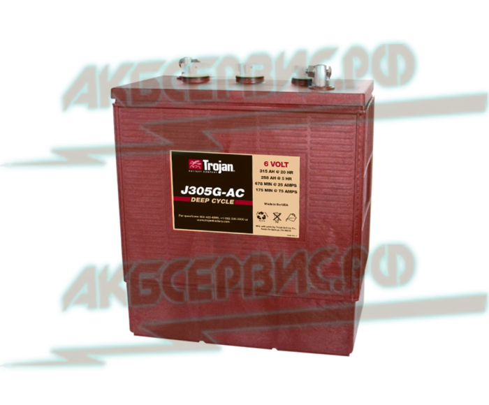 Акбсервис.РФ | J305G-тяговый моноблочный аккумулятор для различной элекротехники, марки Trojan.